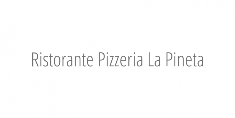 Ristorante Pizzeria La Pineta