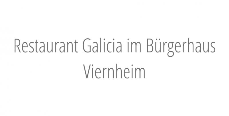 Restaurant Galicia im Bürgerhaus Viernheim
