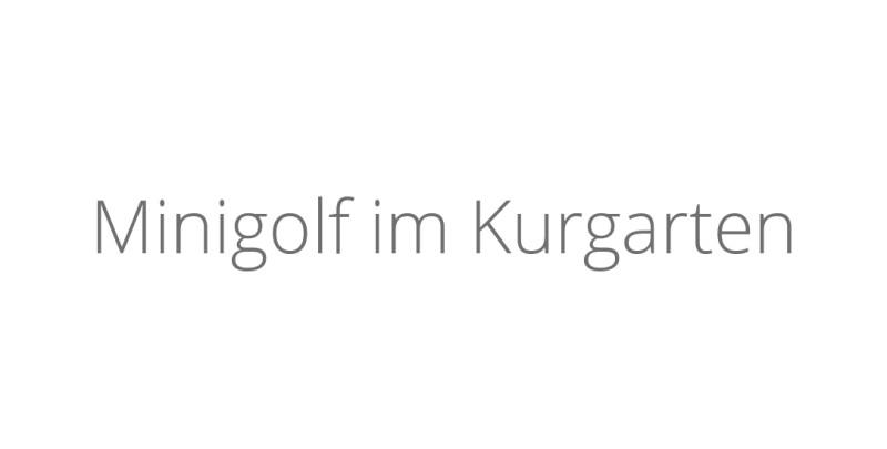 Minigolf im Kurgarten