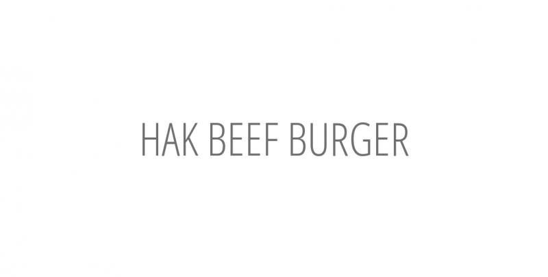 HAK BEEF BURGER