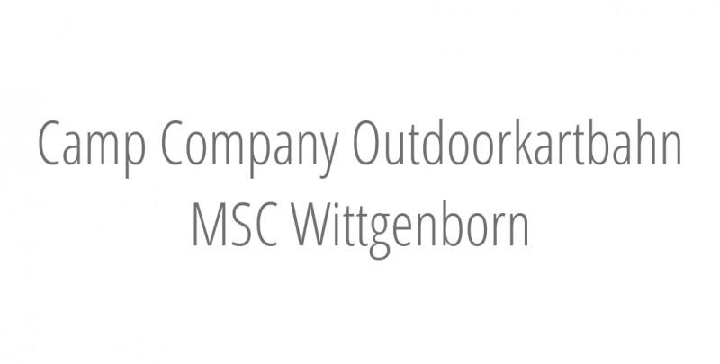 Camp Company Outdoorkartbahn MSC Wittgenborn