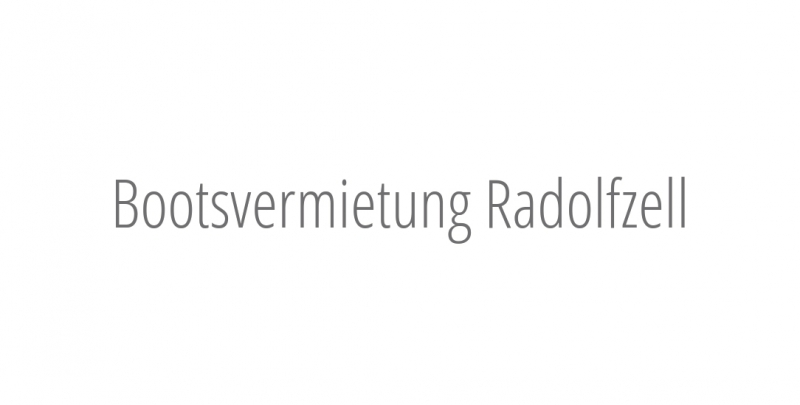 Bootsvermietung Radolfzell