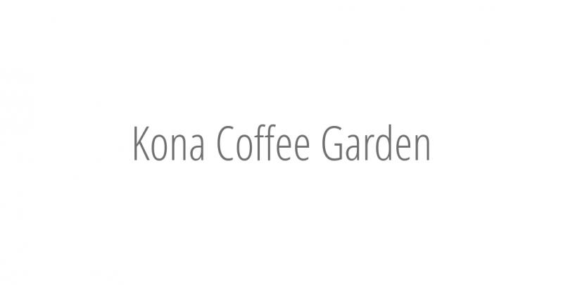 Kona Coffee Garden