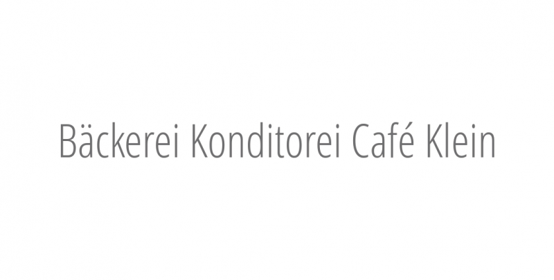 Bäckerei Konditorei Café Klein
