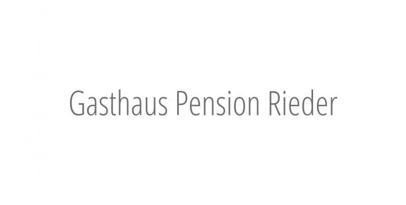 Gasthaus Pension Rieder
