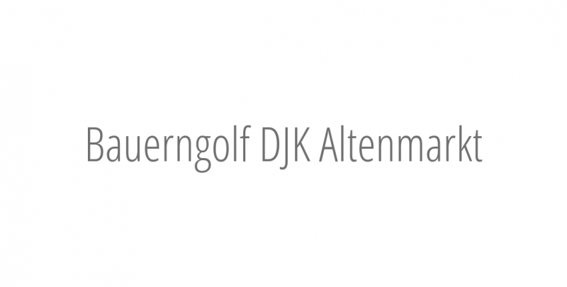 Bauerngolf DJK Altenmarkt