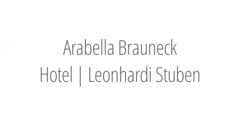 Arabella Brauneck Hotel | Leonhardi Stuben