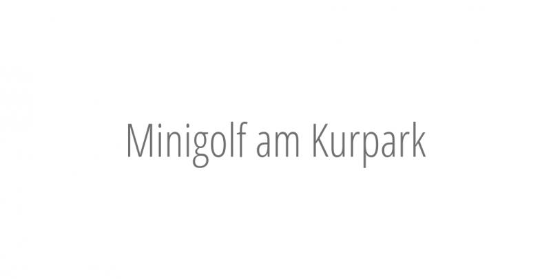 Minigolf am Kurpark