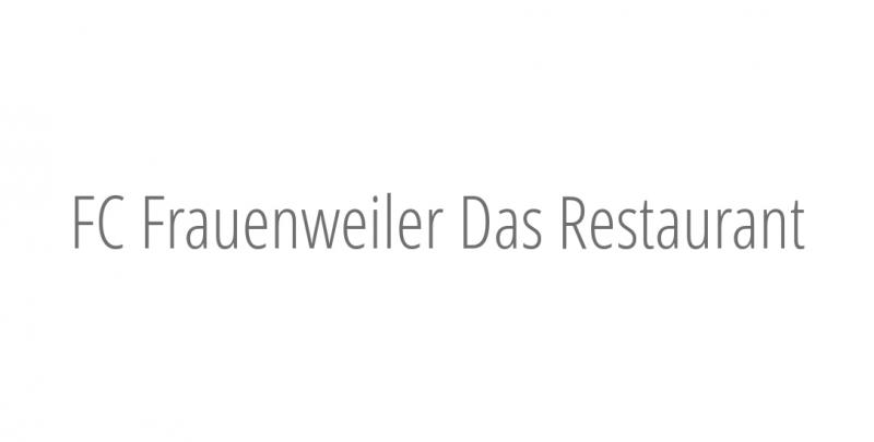 FC Frauenweiler Das Restaurant