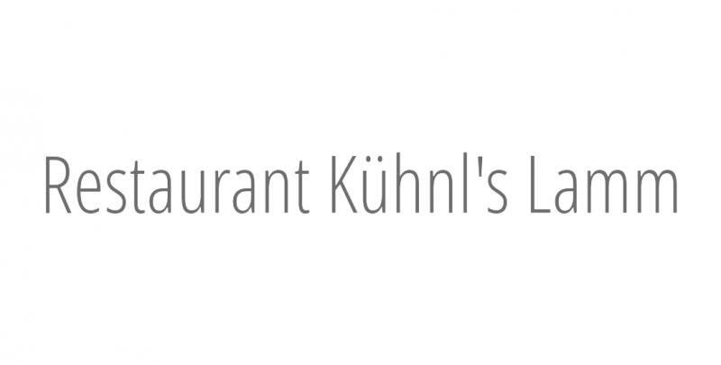 Restaurant Kühnl's Lamm