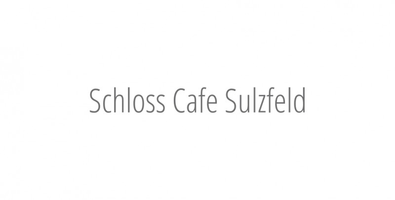 Schloss Cafe Sulzfeld