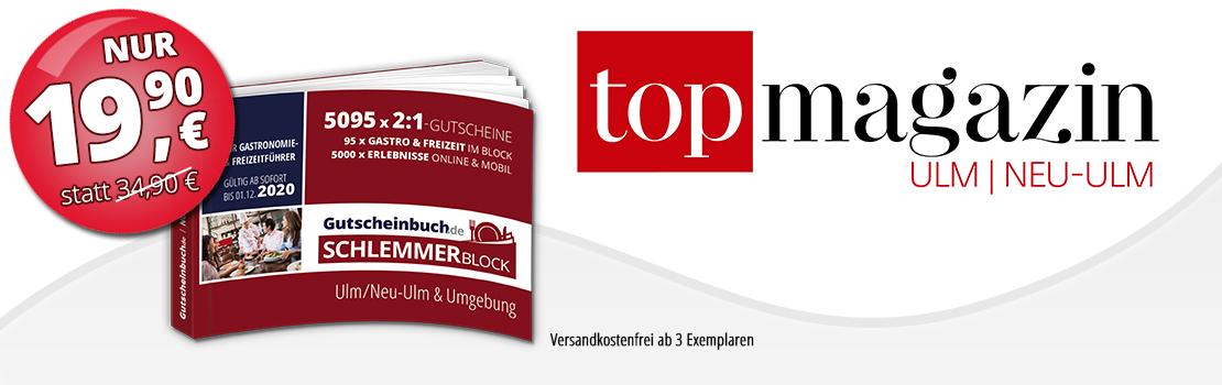 Gutscheinbuch.de Schlemmerblock Top Magazin Ulm